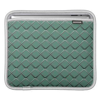U pick Color/ Criss Crossing Chrome Metal St Sleeve For iPads