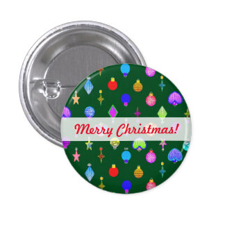 U Pick Color/ Crystal Christmas Tree Ornaments Button