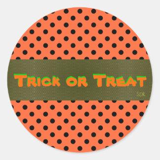 U Pick Color/Customizable Halloween Envelope Seal Classic Round Sticker