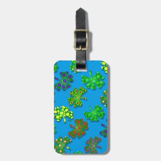 U-pick Color/ Exotic Irish Shamrocks 4 Leaf Clover Bag Tag