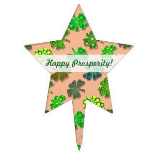U-pick Color/ Exotic Irish Shamrocks 4 Leaf Clover Cake Topper