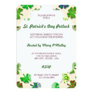 U-pick Color/ Exotic Irish Shamrocks 4 Leaf Clover Card