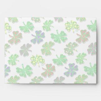 U-pick Color/ Exotic Irish Shamrocks 4 Leaf Clover Envelope