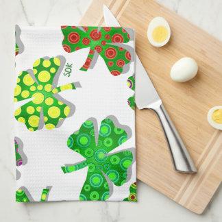 U-pick Color/ Exotic Irish Shamrocks 4 Leaf Clover Hand Towel