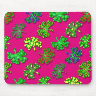 U-pick Color/ Exotic Irish Shamrocks 4 Leaf Clover Mouse Pad