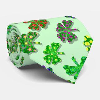 U-pick Color/ Exotic Irish Shamrocks 4 Leaf Clover Tie
