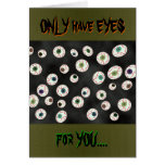 U Pick Color/ Floating Eye Ball Candy Customizable Cards