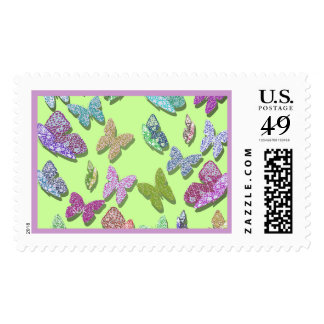 U pick Color/ Fluttering Textured Butterflies Stamp
