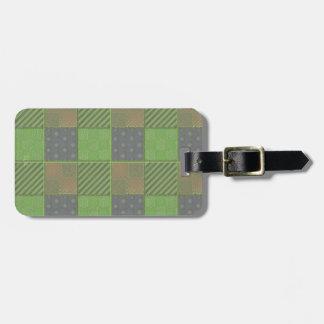 U Pick Color/ Garden Lattice Shimmery Velvet Quilt Bag Tag