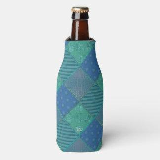U Pick Color/ Garden Lattice Shimmery Velvet Quilt Bottle Cooler