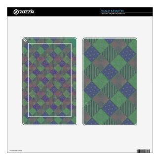 U Pick Color/ Garden Lattice Shimmery Velvet Quilt Decal For Kindle Fire