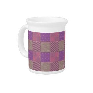 U Pick Color/ Garden Lattice Shimmery Velvet Quilt Drink Pitcher