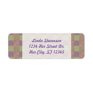 U Pick Color/ Garden Lattice Shimmery Velvet Quilt Label