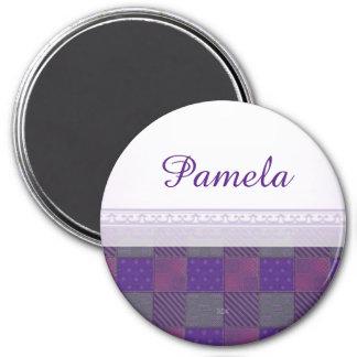 U Pick Color/ Garden Lattice Shimmery Velvet Quilt Magnet