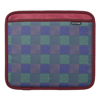 U Pick Color/ Garden Lattice Shimmery Velvet Quilt Sleeve For iPads