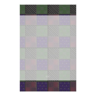 U Pick Color/ Garden Lattice Shimmery Velvet Quilt Stationery