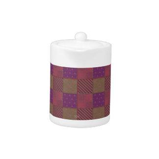 U Pick Color/ Garden Lattice Shimmery Velvet Quilt Teapot