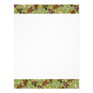 U-pick Color/ Gingerbread People & Snowflakes Letterhead