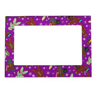 U-pick Color/ Gingerbread People & Snowflakes Magnetic Frame