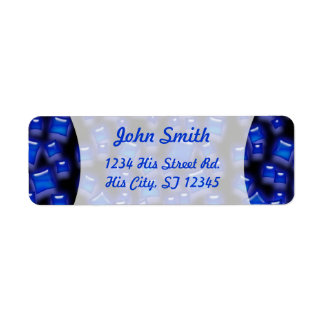 U-pick Color/Glowing Blue Crystal Sapphire Squares Label
