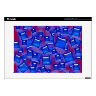 U-pick Color/Glowing Blue Crystal Sapphire Squares Laptop Skins