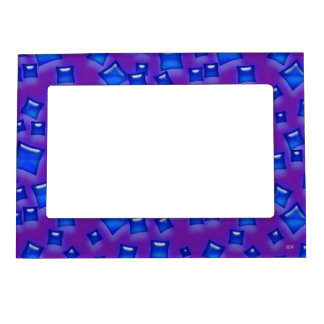 U-pick Color/Glowing Blue Crystal Sapphire Squares Magnetic Picture Frame