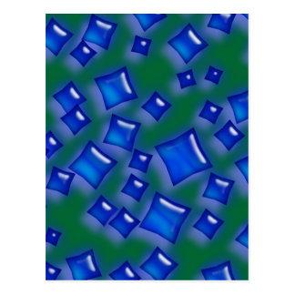 U-pick Color/Glowing Blue Crystal Sapphire Squares Postcard