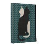 U Pick Color/Good Luck Black and White Kitty Cats iPad Folio Cover