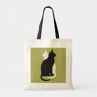 U Pick Color/Good Luck Black & White Kitty Catz Budget Tote Bag