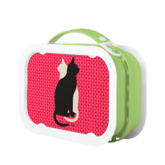 U Pick Color/ Good Luck Black White Kitty Catz Duo Lunch Box