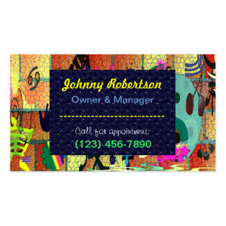 U-pick Color/ Graffiti Art on Brick Wall Double-Sided Standard Business Cards (Pack Of 100)