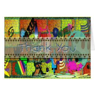 U-pick Color/ Graffiti Art on Brick Wall Card