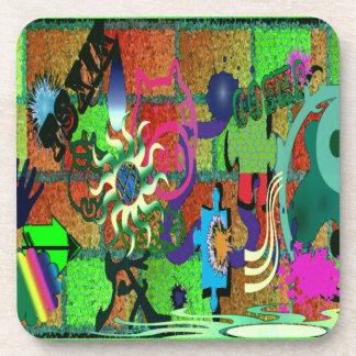 U-pick Color/ Graffiti Art on Brick Wall Coaster