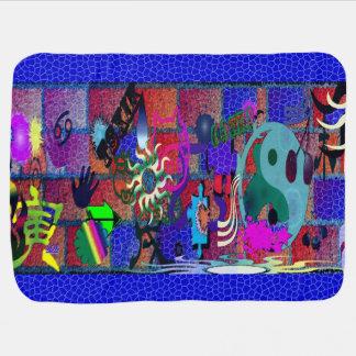 U-pick Color/ Graffiti Art on Brick Wall Receiving Blanket
