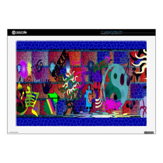 "U-pick Color/ Graffiti Art on Brick Wall Skins For 17"" Laptops"