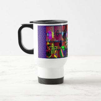 U-pick Color/ Graffiti Art on Brick Wall Travel Mug