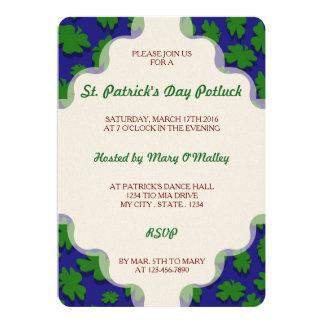 U-pick Color/ Green Good Luck Irish 4 Leaf Clover Card