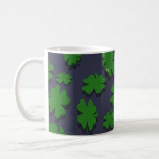 U-pick Color/ Green Good Luck Irish 4 Leaf Clover Coffee Mug