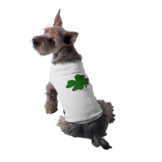 U-pick Color/ Green Good Luck Irish 4 Leaf Clover Doggie Tee Shirt