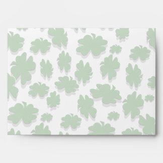 U-pick Color/ Green Good Luck Irish 4 Leaf Clover Envelope