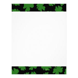 U-pick Color/ Green Good Luck Irish 4 Leaf Clover Letterhead