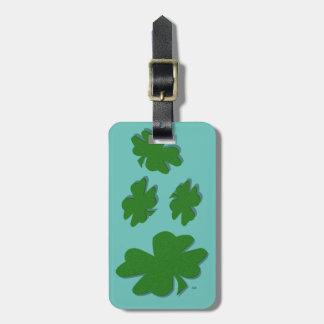 U-pick Color/ Green Good Luck Irish 4 Leaf Clover Luggage Tag