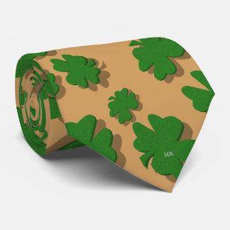U-pick Color/ Green Good Luck Irish 4 Leaf Clover Neck Tie