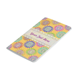 U pick Color/ Hand Blown Glass Crystal Flowers Journal
