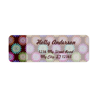 U pick Color/ Hand Blown Glass Crystal Flowers Label