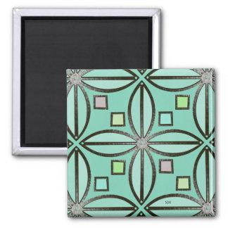 U-pick Color/ Iron Celtic Good Fortune Flower 2 Inch Square Magnet