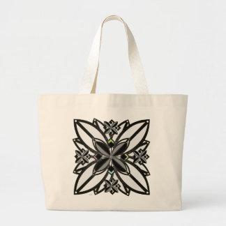U-pick Color/ Iron Celtic Good Fortune Flower II Large Tote Bag