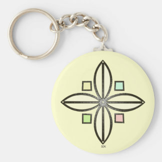 U-pick Color/ Iron Celtic Good Fortune Flower Keychain
