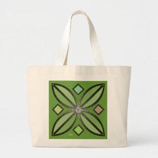 U-pick Color/ Iron Celtic Good Fortune Flower Large Tote Bag