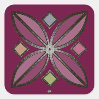 U-pick Color/ Iron Celtic Good Fortune Flower Square Sticker